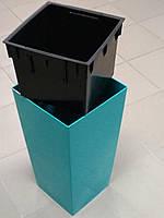 ГОРЩИК ПЛАСТМАСОВИЙ З ВКЛАДОМ URBI SQUARE, 26x26 см, висота 50 см колір смарагд