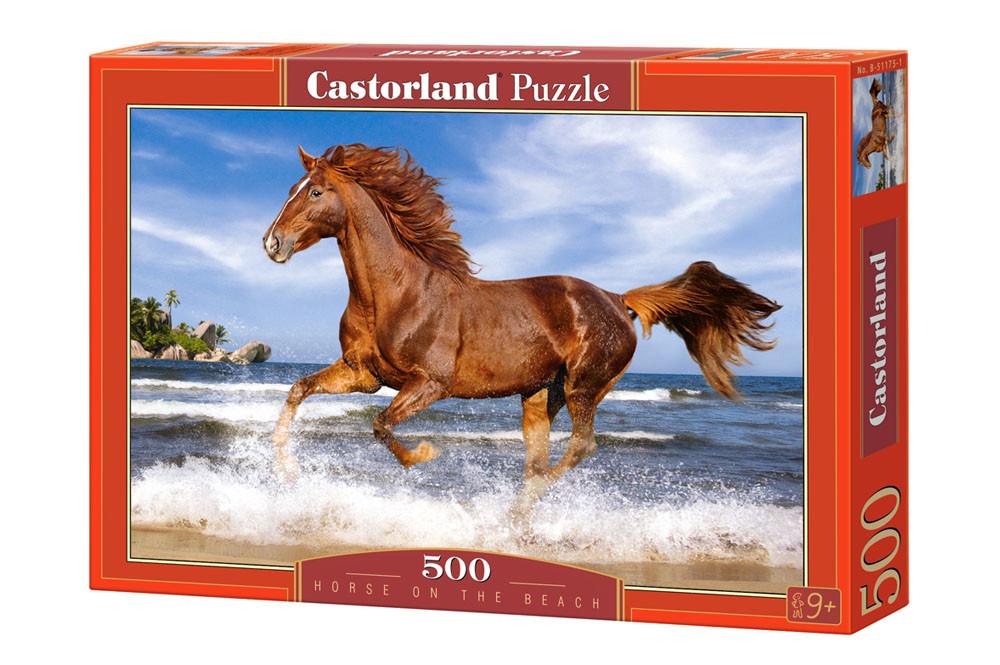 """Пазлы Castorland B-51175 """"Лошадь на пляже"""" 500 элементов (B-51175)"""