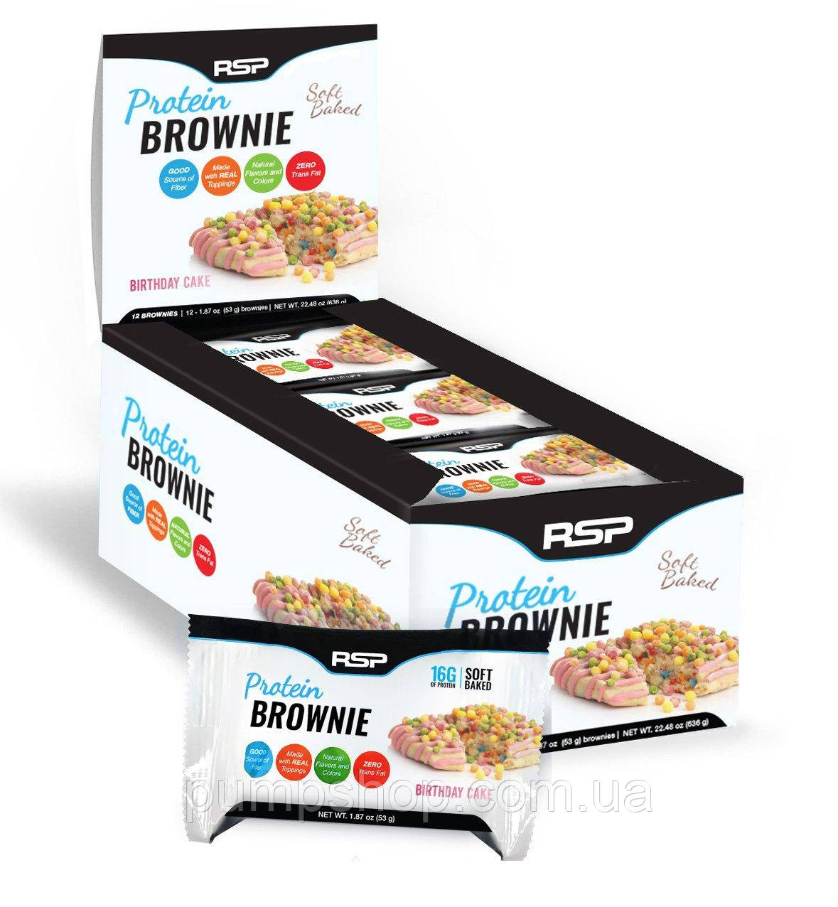 Протеиновый батончик RSP Nutrition Protein Brownie 1 шт. 53 г