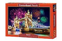 """Пазлы Касторленд на 500 элементов. """"TOWER BRIDGE, LONDON, ENGLAND""""."""