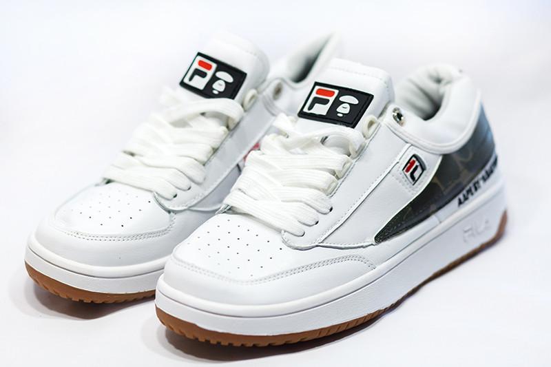 Кроссовки мужские фила кожаные белые демисезонные (реплика) Fila White Leather