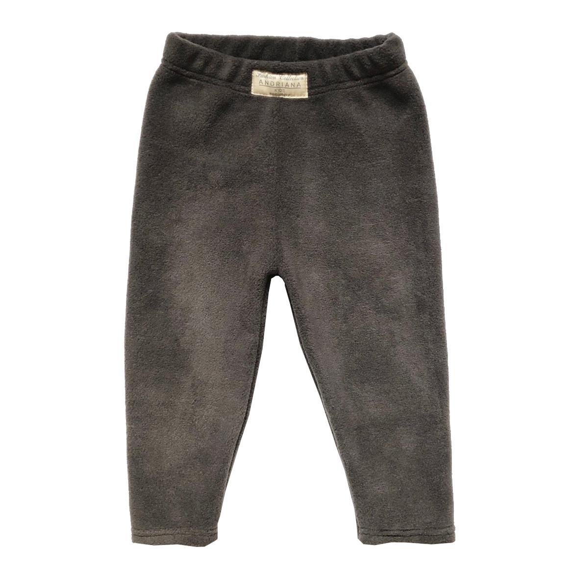 Теплые флисовые штанишки Andriana Kids для мальчика от 1 до 4 лет темно-серые