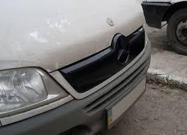 """Зимняя накладка на Mercedes Sprinter 2000-2006 Решетка """"FLY"""" Глянец (шт.)"""
