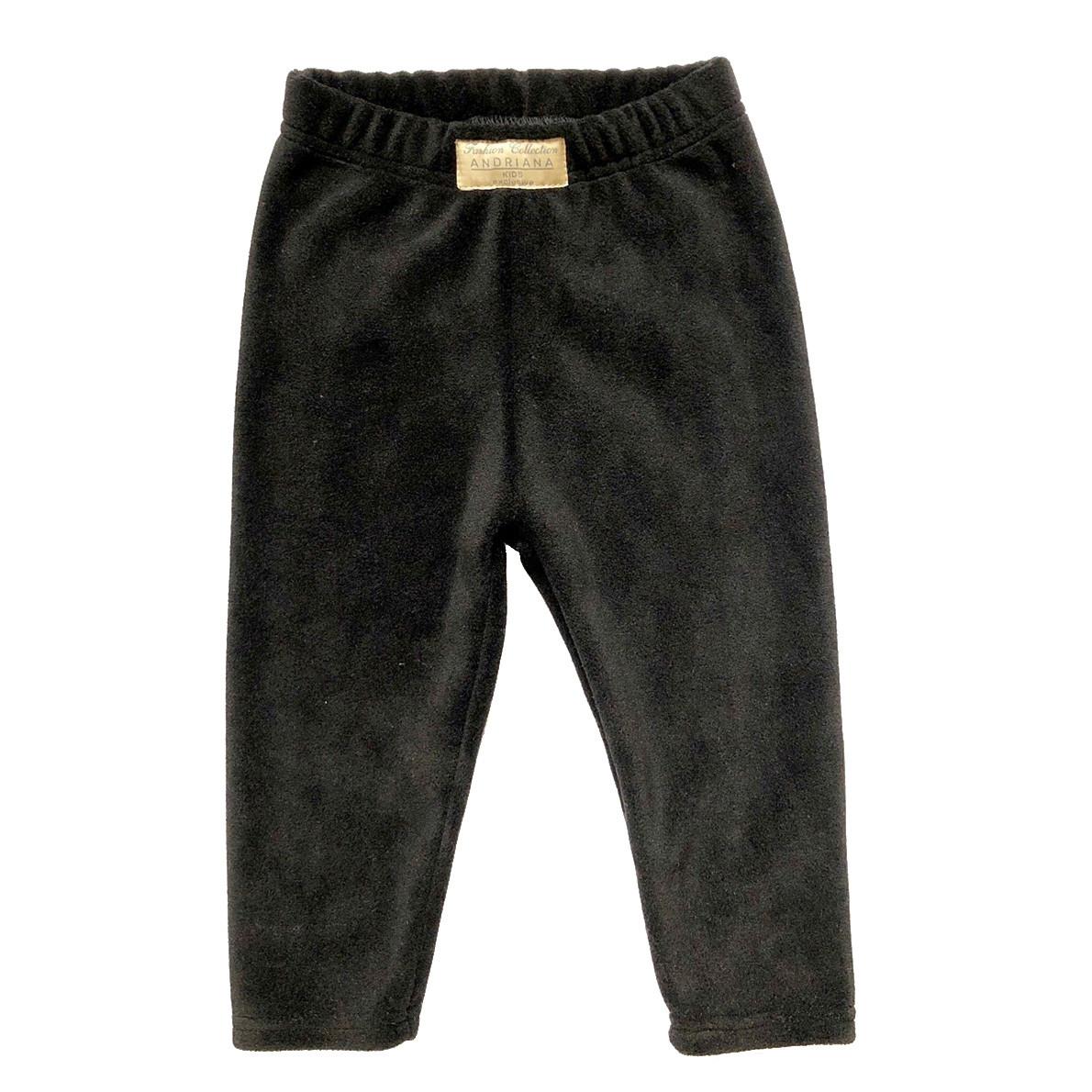 Теплые флисовые штанишки Andriana Kids для мальчика от 1 до 4 лет черные