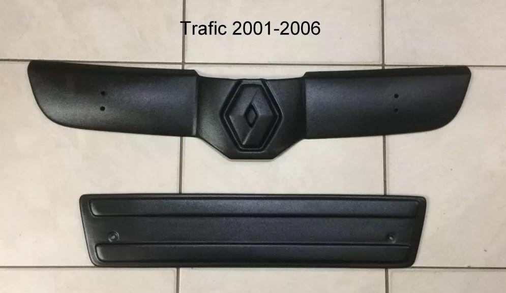 "Зимняя накладка Renault Trafic 2001-2006 Мат Бампер верх ""FLY"""