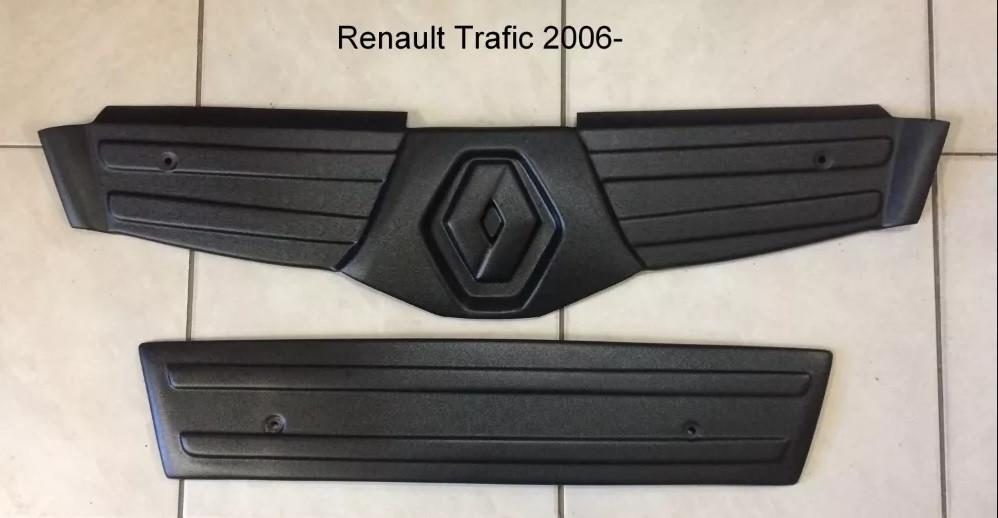 """Зимняя накладка Renault Trafic 2006-2014 Глянец Бампер верх """"FLY"""""""