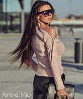 Восхитительная женская кофта (ангора арктика, длинные рукава, асимметрия, декор молния) РАЗНЫЕ ЦВЕТА!