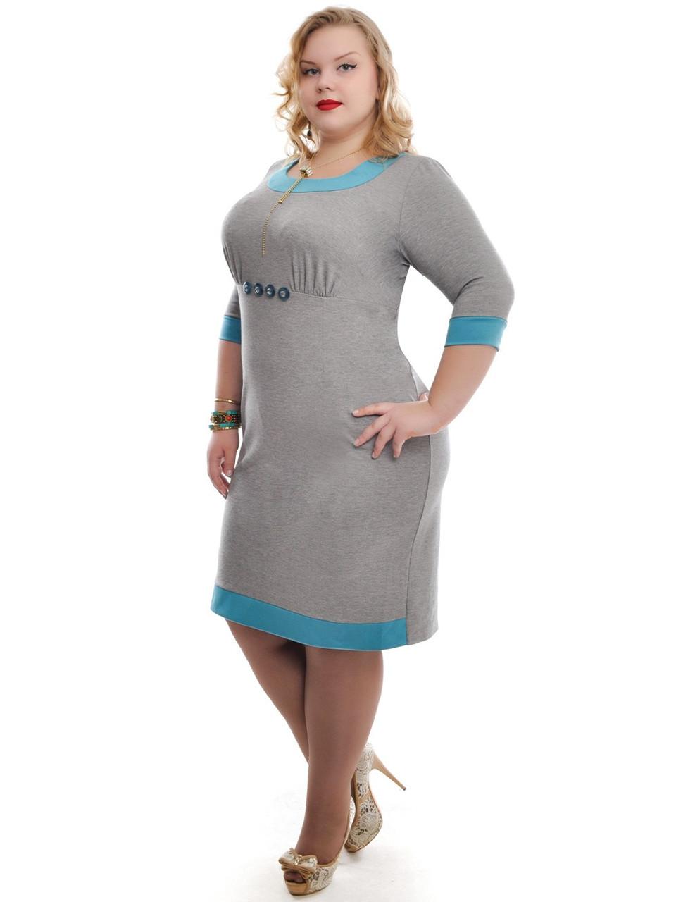 6cc5310bbaa42ee Прямое платье для офиса серое ДК-514, цена 520 грн., купить в ...