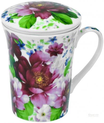 Чашка с заварником Шиповник 390 мл Keramia
