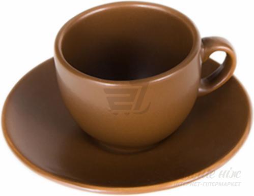 Чашка с блюдцем Табако 95 мл 24-237-048 Keramia
