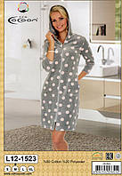 Жіночий халат велюровий тм Cocoon c капюшоном