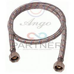 Шланг для воды в нержавеющей оплетке ANGO 1/2 100см ВВ