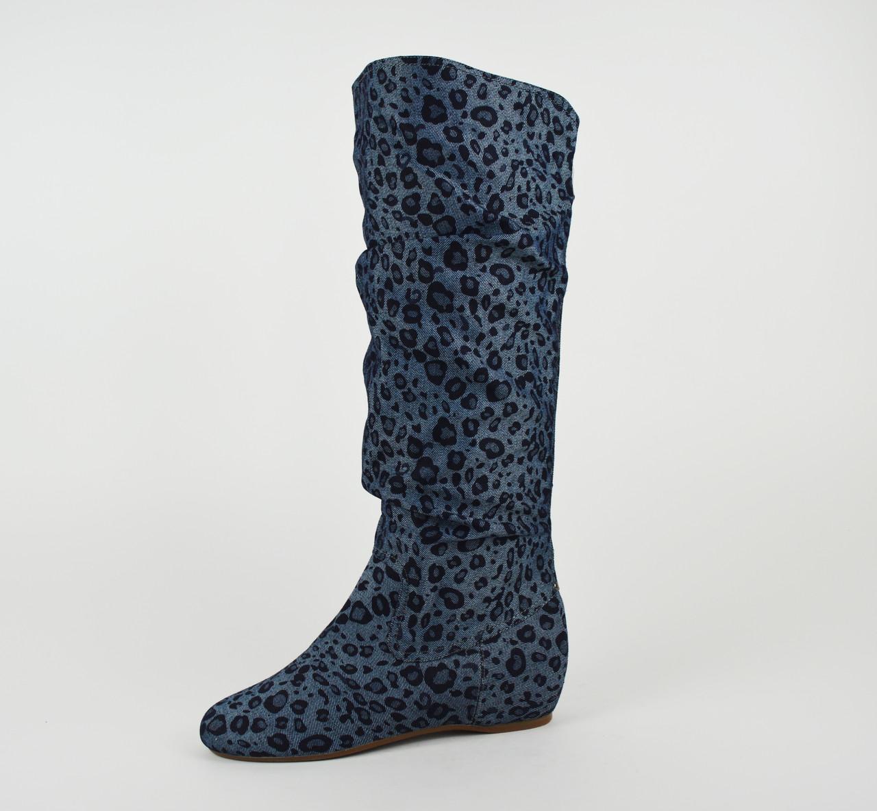 Сапоги джинс-текстиль Квин 195-003