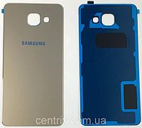 Задняя крышка для Samsung A310F Galaxy A3 (2016), золотистая, оригинал