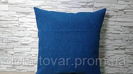 Подушка декоративная 40х40 синяя