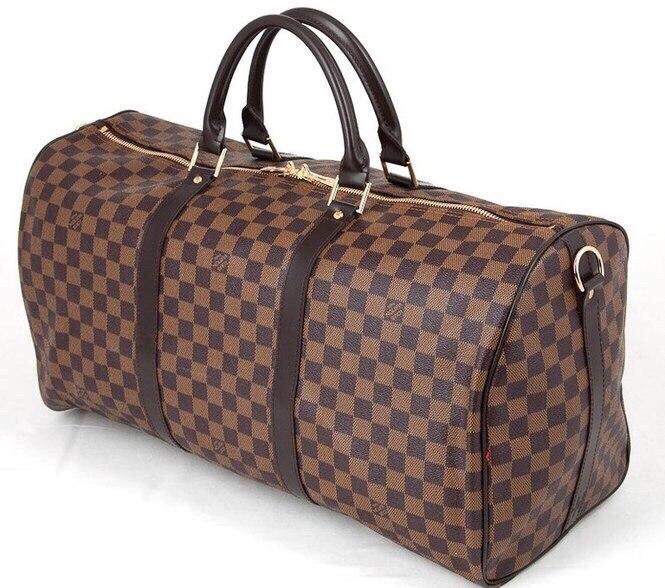 88f9a3311219 Женская Сумка дорожная в стиле Louis Vuitton LV Monogram Keepal Brown -  Планета здоровья интернет-