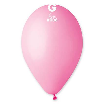 Шарик пастель 21 см  (розовый)Gemar( Италия ) 10 шт