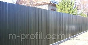 Профнастил С-8 для фасада 0,22 С-8 1,2м. Ral 8017 Коричневий, фото 2