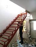 Каркас сходів з 2 поворотами і забіжними ступенями., фото 2