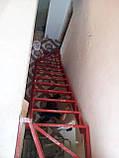 Каркас сходів з 2 поворотами і забіжними ступенями., фото 3