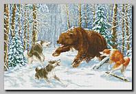 """Схема для вышивки бисером """"Охота на медведя"""""""