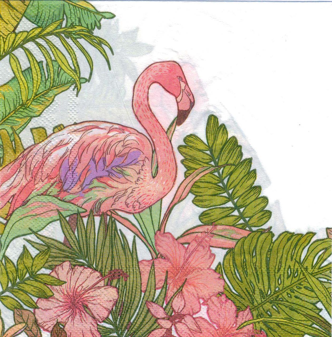 Салфетки бумажные двухслойные детские Фламинго  15 штук