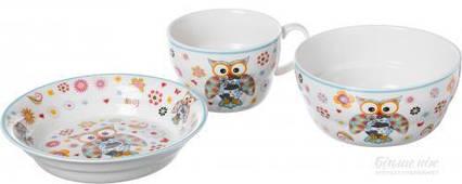 Набор детской посуды Совушка 3 предмета 359-013 Lefard