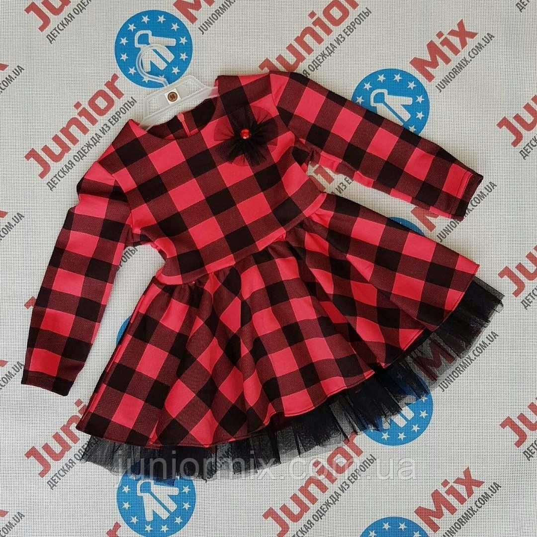 Дитячі плаття в клітинку для дівчаток оптом SNEKE