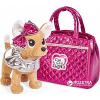 Собачка Chi Chi Love Чихуахуа Фешн Модный гламур с накидкой бантом и сумочкой 20 см 5893125