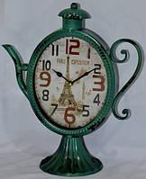 Часы настольные металлические в форме чайника