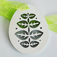 Яйцо деревянное на ленте. Пасхальное украшение, фото 1