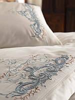 Комплект белья сатин с вышивкой Dantela Vita Olivia mint, фото 1