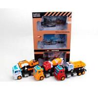 Набор транспорта 986-2 (18шт) трейлер(инер-й) 3шт, 29см, стройтехника3шт, в кор-ке, 32-50-9см