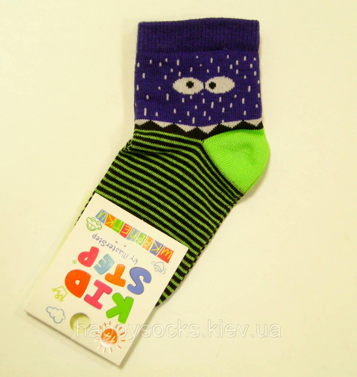 Детские хлопковые цветные носки монстрик