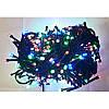 Гирлянда 200 LED 16м разноцветная на черном проводе