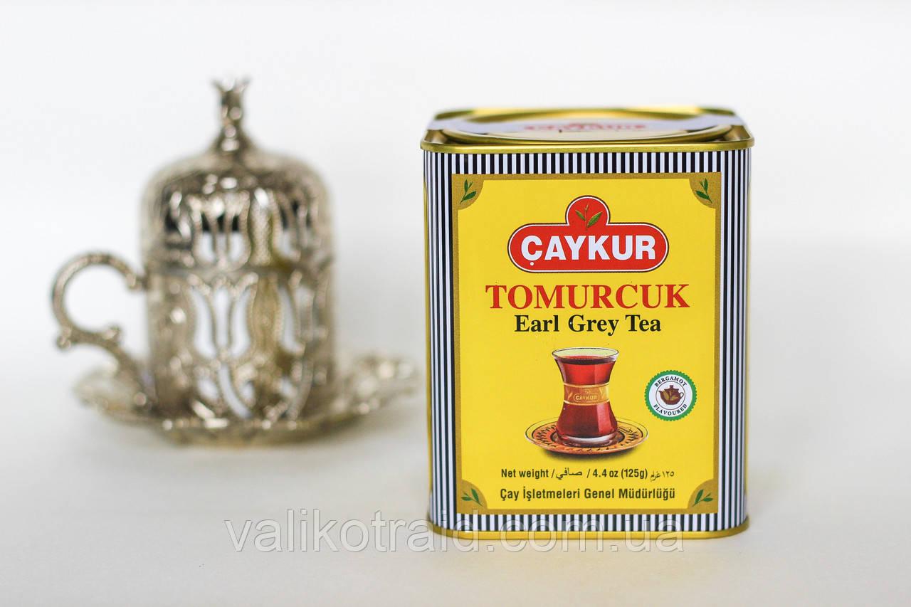 """Чай подарочный 125 гр черный с бергамотом мелко-листовой , CAYKUR """"TOMURCUK"""""""