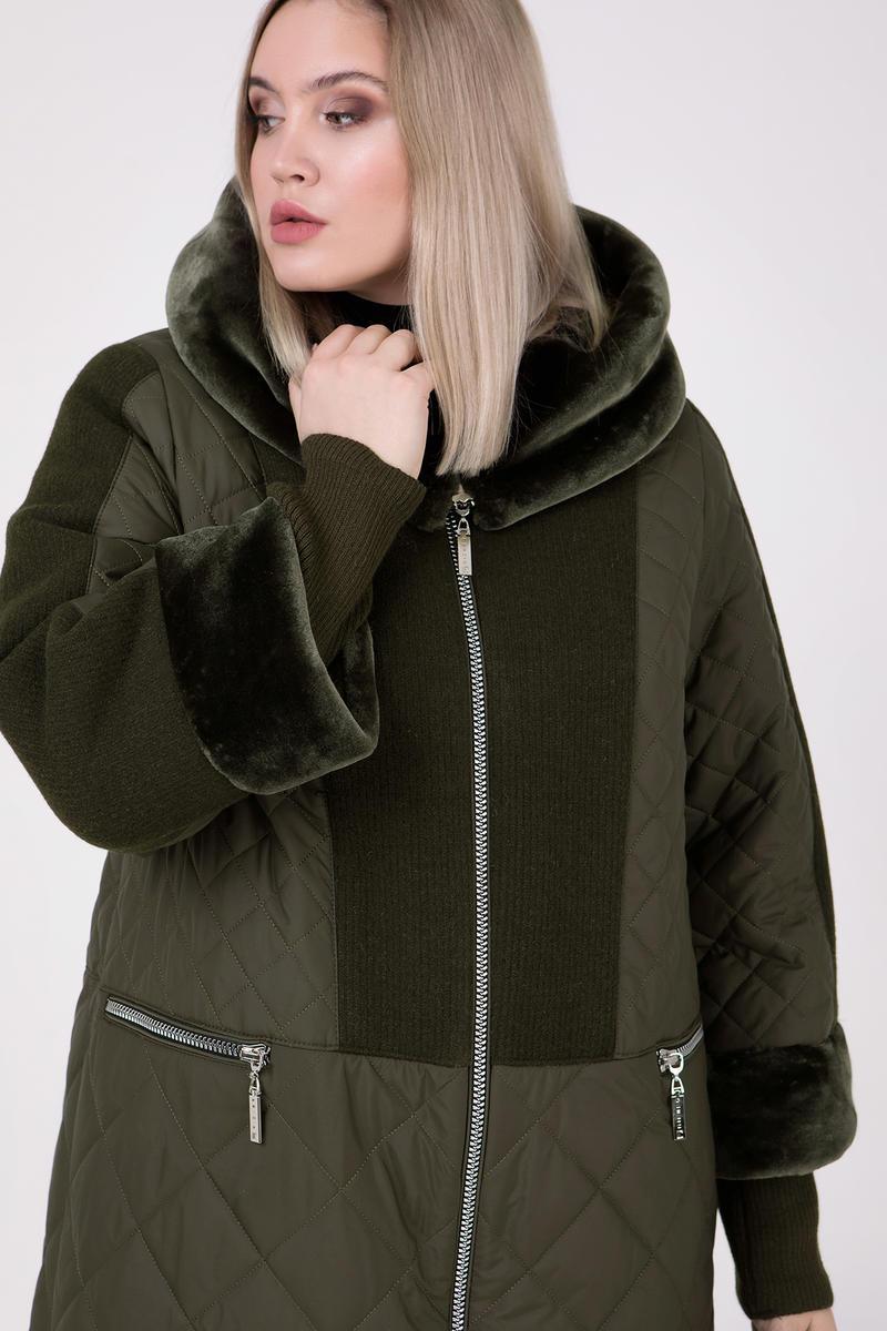 Зимнее Пальто длинное с мутоном  Большие размеры от 54 до 68