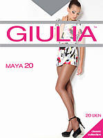 """Шелковистые тонкие колготки """"Giulia"""" без шортиков 20DEN"""