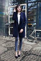 """Женское кашемировое пальто пиджак на кнопке и под пояс  """"Мелания"""""""