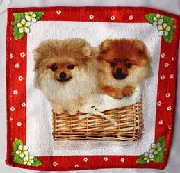 Красивая кухонная салфетка собачки подарок 20 штук в упаковке микрофибра