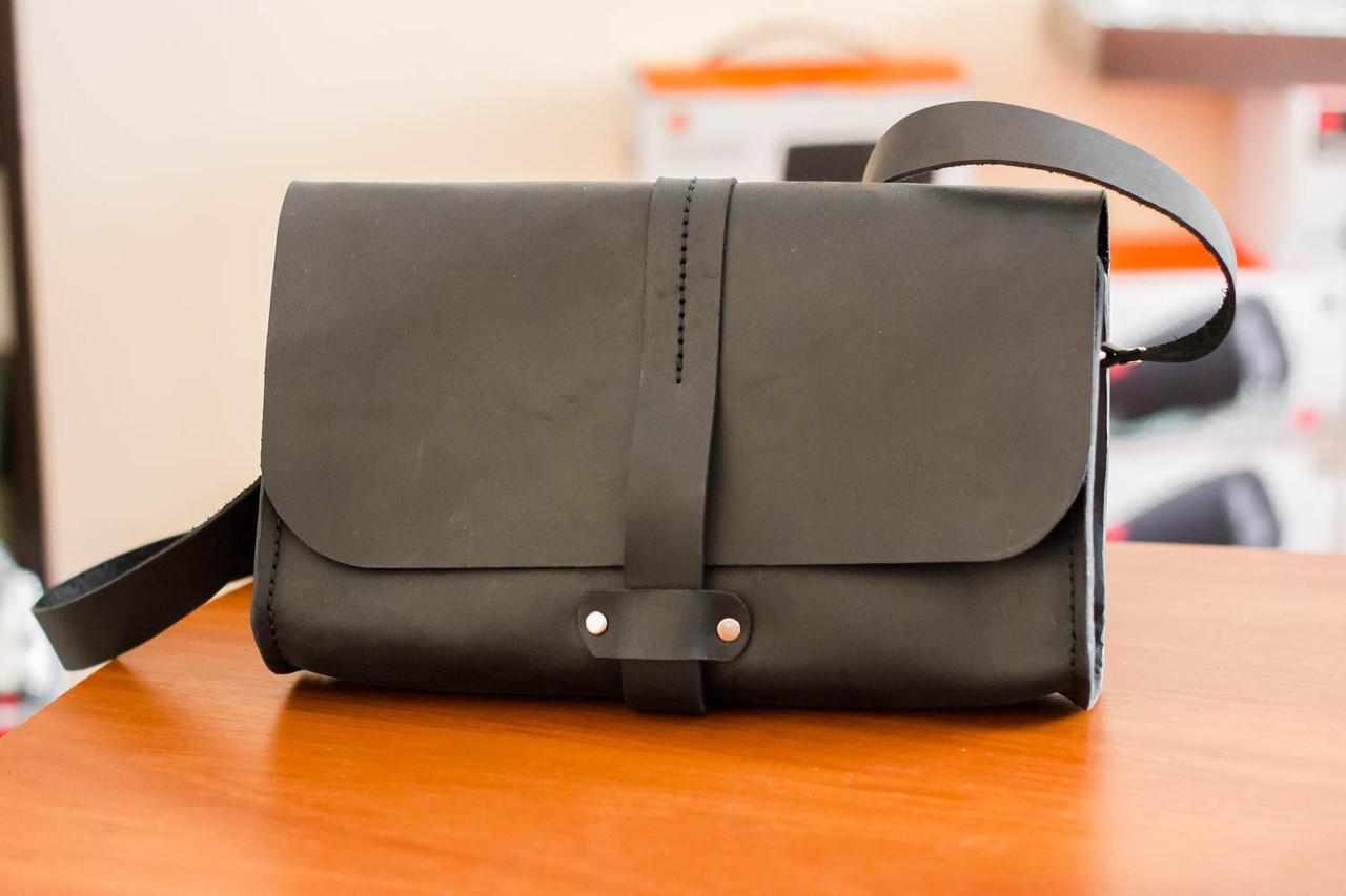 b2628009af48 Женская сумка клатч из натуральной кожи ручной работы Revier черная, цена  800 грн., купить в Киеве — Prom.ua (ID#815284572)