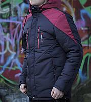 Мужская зимняя куртка Reebok черный с красным