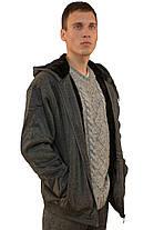 Кофта спортивная мужская на меху с капюшоном American Fashion, фото 2