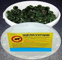 Щелкунчик приманка в форме парафинового брикета с ароматом арахиса готовая к применению, ведро  6 кг