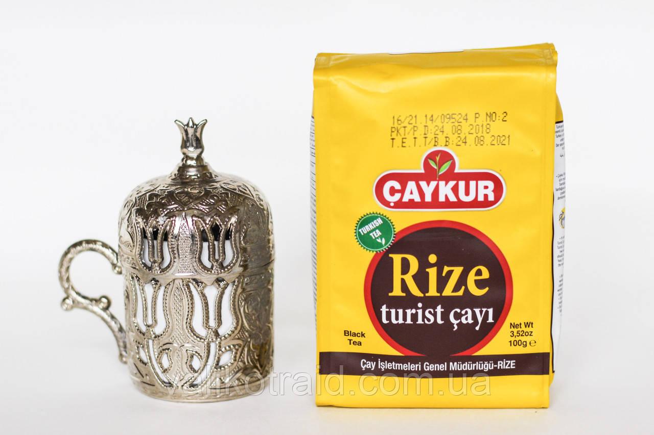 """Чай черный мелко-листовой 100 Г CAYKUR """"RIZE TURIST ÇAY"""", произведен 24.08.2018 Турецкий"""