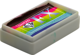 Аквагрим Diamond FX cплит кейк 28g Яркая Радуга