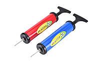 Ручной насос для велосипедов и мячей Ball Pump 1701: 4 цвета