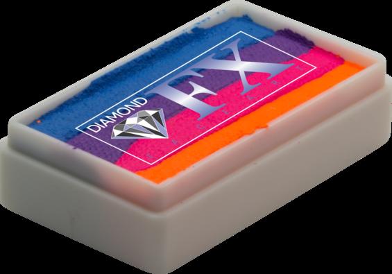 Аквагрим Diamond FX спліт кейк 28 g Неонове Сонце