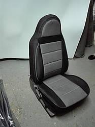 Чехлы на сиденья Пежо Партнер (Peugeot Partner) (1+1,модельные, экокожа+автоткань, отдельный подголовник)