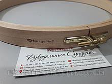 Пяльцы Nurge деревянные с винтом, диаметр 280 мм (арт. 120-7)